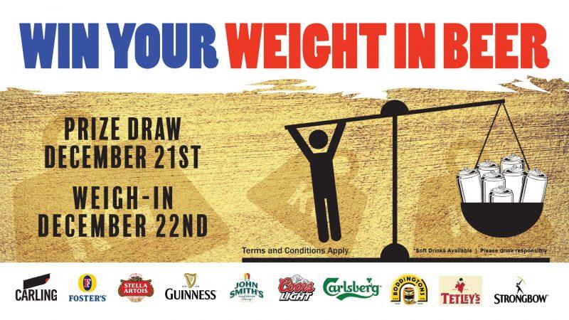 Win your weight in Beer