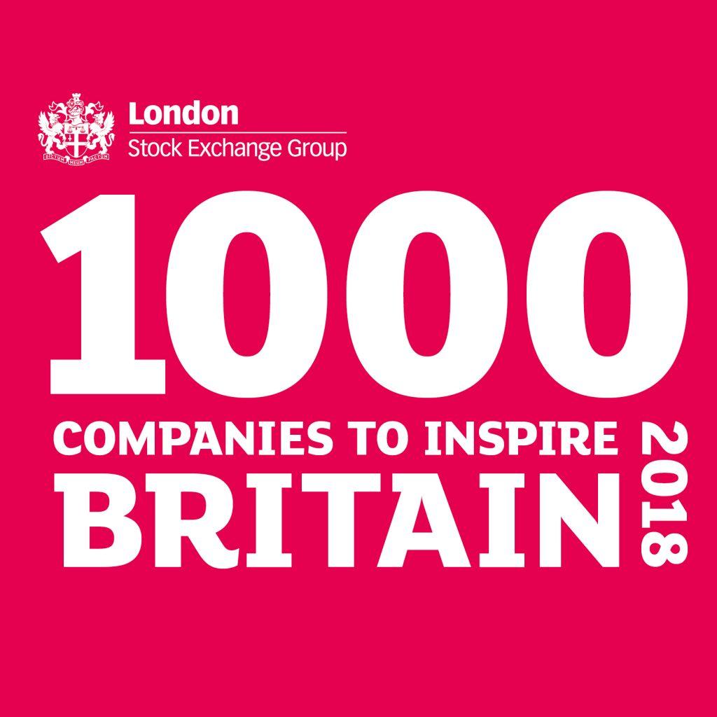 1000 Companies to Inspire Britain 2018