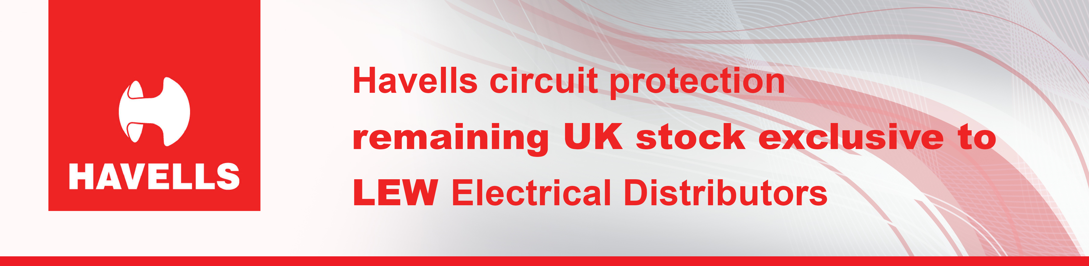 Havells Circuit Protection Remaining UK Stock Available at LEW