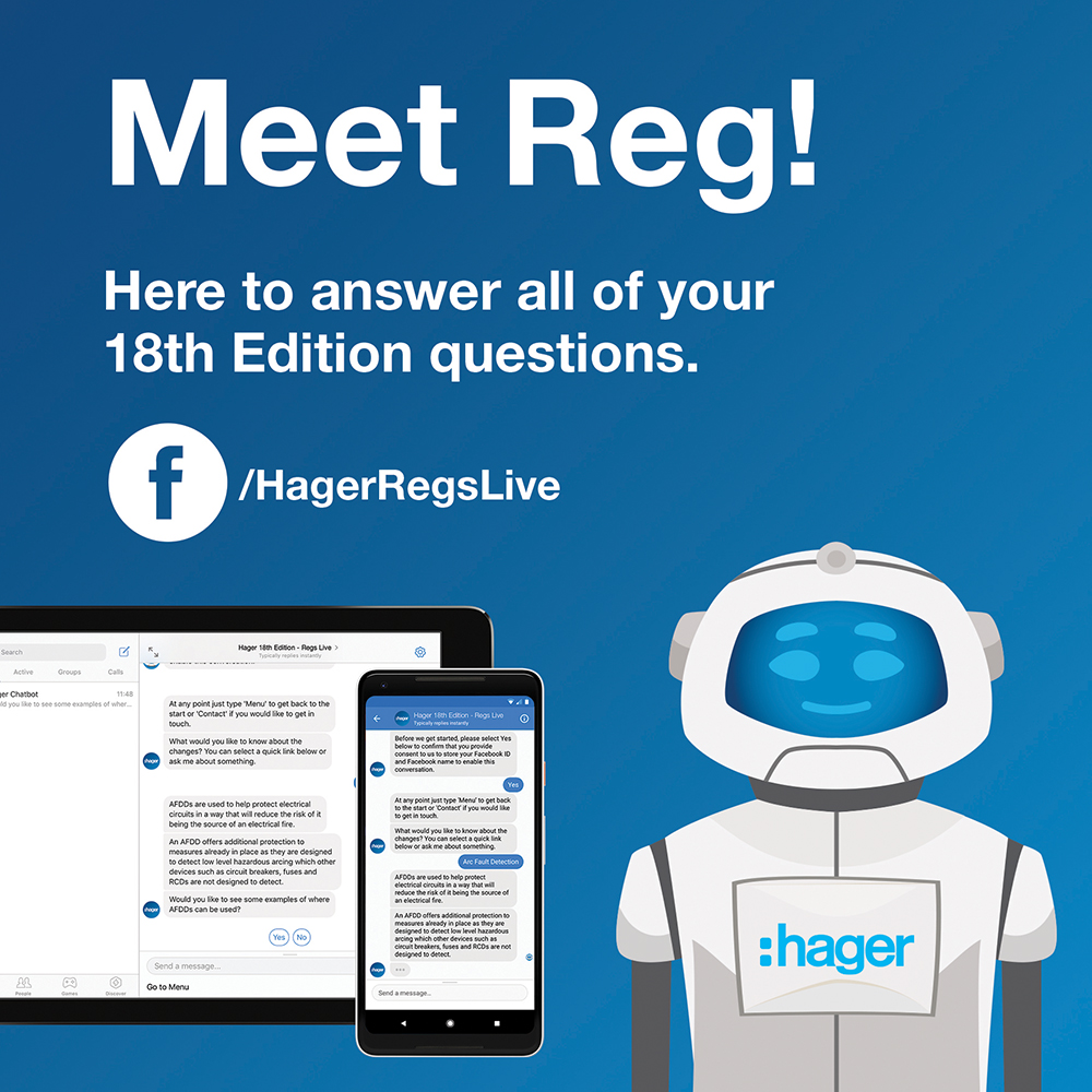Hager 18th edition - Meet Reg the chatbot!
