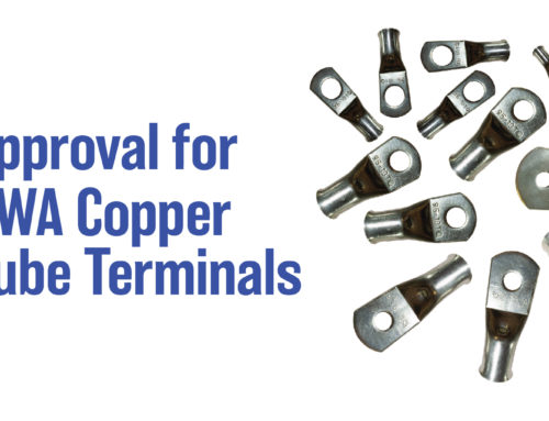 Approval for SWA Copper Tube Terminals