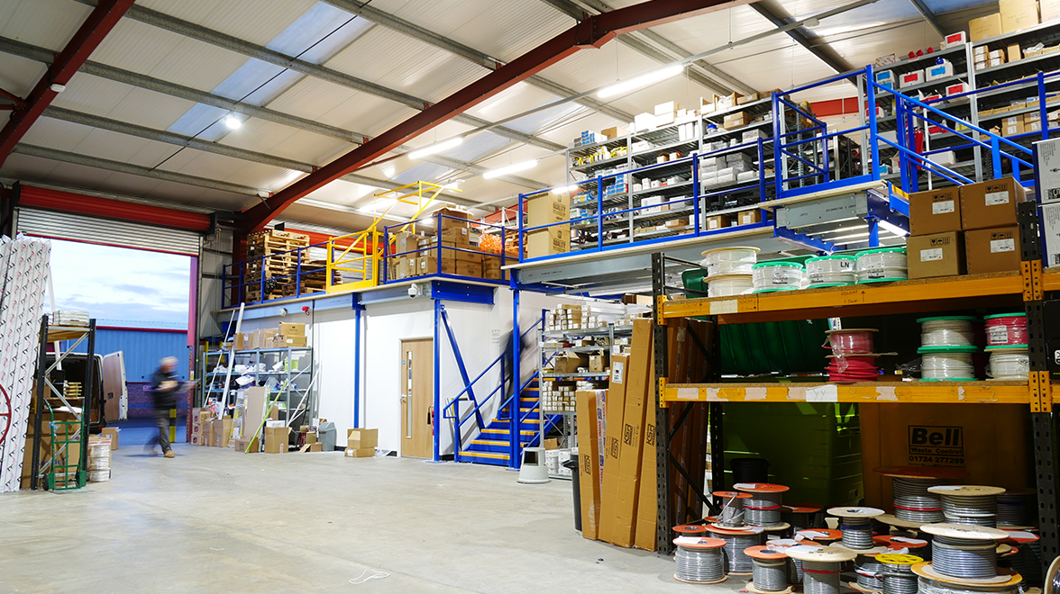 LEW warehouse stocked with electrical supplies
